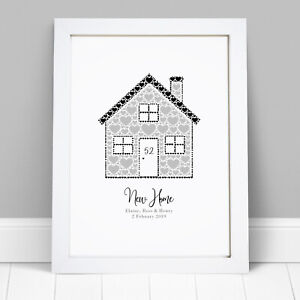 Personalised House Warming Print First New Home Gift With Names Housewarming