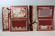 Mother ~  2 pre-made scrapbook pages paper piecing layout