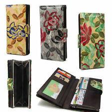 Leather Bifold Floral Wallets for Women