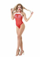 lingerie bodysuit women white hair red sexy clothes Christmas lingerie teddy