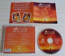 CD ALBUM BOF WALT DISNEY LE ROI LION 12 TITRES 2003