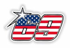 Nicky Hayden Adesivo Americano Moto GP moto serbatoio PARAURTI PORTA CASCO