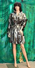 Lady.s NICOWA metallic effect finish fashion top coat party clubbing mistress TV