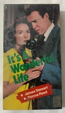 It's A Wonderful Life James Stewart & Donna Reed (VHS 1987) Black/White Sealed