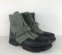 Polo Ralph Lauren Conquest HI III  Leather Boots Black/Gray Mens 11D
