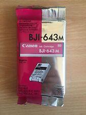 GENUINE ORIGINAL CANON BJI 643 MAGENTA INK CARTRIDGE BJC 800/820/820J/880/880J