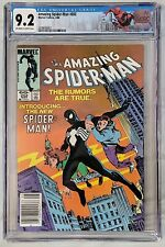 CGC 9.2 AMAZING SPIDER-MAN #252 1ST APPEARANCE BLACK SUIT NEWSSTAND