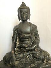 Old,Antique,Rare Black Shakyamuni Buddha Statue,Brass,22cm tall,2 kg weight