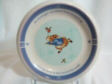 Peter Rabbit Wedgwood Concave Child Plate Frederick Warne 2001 MINT