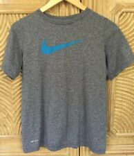 Nike Dri-Fit Boys Athletic Blue-Gray Short Sleeve Shirt Size Xl Excellent