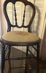 2 antique needlepoint chairs