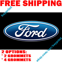 Ford Flag Banner Motor Company Car Racing Shop Garage White 18x58 in