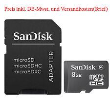 8 GB SanDisk Scheda di memoria classe 4 TF FLASH CARD MICRO SD adattatore