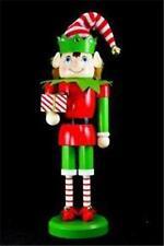 "14"" Nutcracker Santa's ELF Hat Red Green Candy Stripe Stockings Gift 145163"
