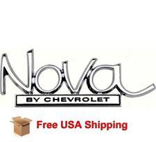""" Nova By Chevrolet"" Trunk Deck Lid Emblem 68-72 OER 8728940 GM RESTORATION PART"
