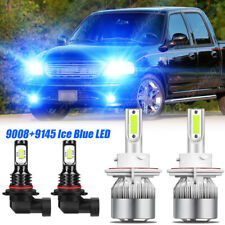 For 2004-2007-2014 Ford F150 8000K 4x LED Headlight Hi/Low+Fog Light Bulbs Combo