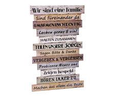 Wandbild Familie Wanddekoration Holz Dekoschild Sprüche Dekoration Wand Schild