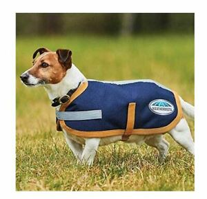 "Weatherbeeta 1200D Dog Coat, Navy/Gold, 12"""