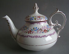 RAR! Villeroy & Boch Wallerfangen Oriental Knochenporzellan Teekanne 1855