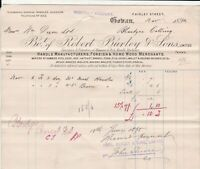 Bo.t of Robert Burley & Sons Limited 1894 Coban Manfs.&Mercs Paid Invoice  40716