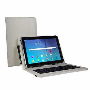 Qwertz Tablet - Samsung Galaxy Tab A7 T500 10.4 Hülle - Tastatur 3in1 Set Weiß