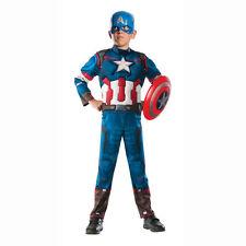 Captain America Costume Kids Boys Avengers Halloween Fancy Dress Up Size M 8-10