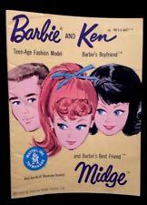 Vintage Mattel Barbie, Ken & Midge Fashion Catalog c. 1962