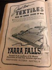 Yarra Falls Textiles Victoria Original 1940s Vintage Print Ad WWII Era
