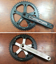 Orca Cnc crankset 46T square taper 130bcd single speed fixed track Black/white
