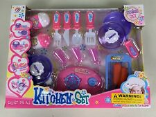 Pretend Play Kids Dish Set Toy  Kitchen Cookware  Pans And Utensils.