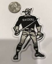 "Oakland Raiders Vintage Iron on Embroidered    Patch 4"" x 2"" Awesome!!"