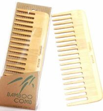 "ANNIE 7"" BAMBOO VOLUME COMB HAND MADE OF NATURAL BAMBOO ANTI-STATIC COMB BRUSH"