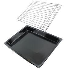 Large Roasting Oven Tray Tin Base & Folding Shelf Rack BEKO BLOMBERG LEISURE