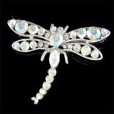 DRAGONFLY~ made with Swarovski Crystal Bridal wedding Bouquet Insect Pin Brooch