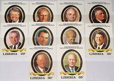 LIBERIA 1982 1252-61 U 933-42 US Presidents Präsidenten Carter Ford Nixon MNH