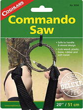 COMMANDO WIRE SAW WHANDLES-8 STRAND CUTS WOOD, PLASTIC, RUBBER, SOFT METAL BONE