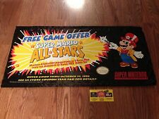 Nintendo Super Mario All Stars Promo Display Banner Sign SNES RARE
