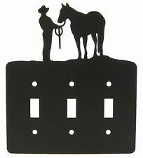 Halter Showmanship Horse Triple Switch Cove Plate Black