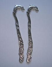 2 Tibetan Silver Bookmarks Dolphin 12,2cm
