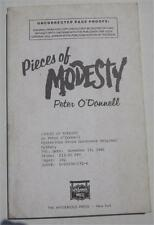PIECES OF MODESTY PETER ODONNELL 1986 UNCORRECTED PROOF ADVANCE READING COPY ARC