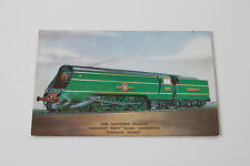 "SOUTHERN RAILWAY ""MERCHANT NAVY"" CLASS No 21C1 (1941) VINTAGE RAILWAY POSTCARD"