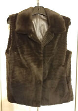 Beautiful Mink Fur Vest with reversible brown leather inside