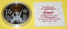 Bulgaria 1 Coin(gilded)+Medal 40mm, 31g, Proof Like + Zertifikat