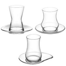 Turkish Tea Glasses 12pc Set Luxury Design Cups & Saucers Arabian Tea House LAV
