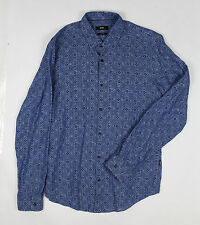 Hugo Boss - Dark Blue Nemos Patterned Shirt - Size M *NEW WITH TAGS* RRP £139