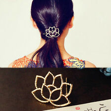 Retro Lotus Flower Bobby Hair Pin Barrette Clip Hairpin Clamps Bridal Jewelry