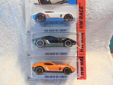 2015 HOT WHEELS KMART #176 FORD SHELBY GR-1 CONCEPT + 2 VARIATIONS TRACK ACES