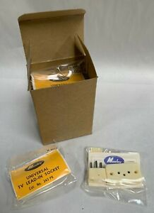 """Lot """"10"""" NOS Vintage Mosley Lead In Socket Plug TV Flat Antenna Wire Jack A5)"""