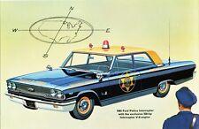 1963 Ford Galaxie Police Interceptor, Refrigerator Magnet, 40 MIL