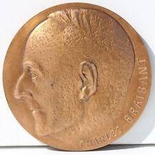 MEDAILLE EN BRONZE - CHARLES BRAIBANT - PAX OPTIMA RERUM - D. 6,8 cm